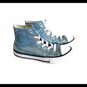 Converse All Star Chucks 13 High Top Glitter Shoes